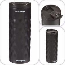 Nissan Qashqai Metal Geometric Thermal Cup Bottle Black New Genuine QAS005BK