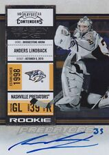 2010-11 PANINI PLAYOFF CONTENDERS HOCKEY ANDERS LINDBACK ON CARD AUTOGRAPH