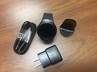 Excellent OEM  Samsung Gear S2 SM-R730A 4G Dark Grey Black WIFI - Cellular At&T