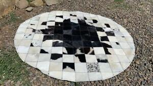 Cowhide patchwork, carpet leather animal, skin hair on