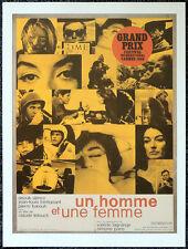 UN HOMME ET UNE FEMME 1966 FRENCH FILM MOVIE POSTER PAGE . S7