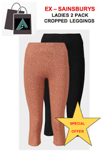 ✅  2 x Women's Lycra Cropped Leggings (Sizes Available) ❗❗BUY 2 GET 1 FREE ❗❗✅