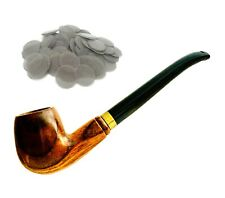 More details for durable wooden pipe smoking tobacco cigarettes cigar pipes filter screen uk
