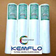 4 PCS Kemflo PP/Spun/Pre-Filter Cartridge For RO/UV Water Purifier 5 Micron