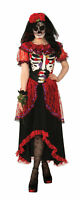 Day of the Dead Woman Adult Womens Costume NEW Dia De Los Muertos Skeleton