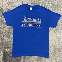 Gildan MLB New York Yankees Baseball Shirt Blue Mens Large