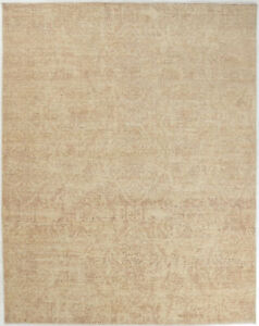 8X10 Hand-Knotted Oushak Carpet Traditional Ivory Fine Wool Area Rug D55763