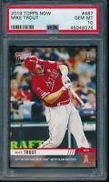 2019 Topps Now Mike Trout PSA 10 Gem Mint Card #487 SP Los Angeles Angels PR 326