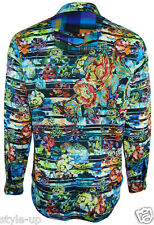 Robert Graham LIMITED EDITION Floral Silk Emboidered Rare Mens L Large Shirt NEW