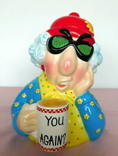 Retired Hallmark You Again? Cranky Grumpy Old Lady Maxine Coffe Cup Cookie Jar