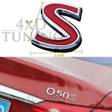 For Infiniti Q50 Q50S Upgrade Red S Logo Sport Version Logo Q50 Accessories