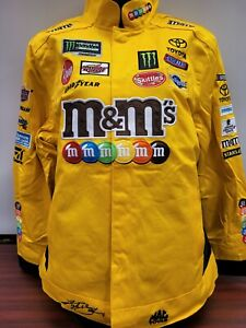 Kyle Busch #18 M&Ms Women's 2019 Replica Uniform Snap Up Pit Jacket