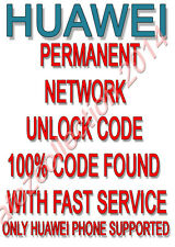Unlock Code Huawei Ascend P6 Y300 P2 P1 D1 Y330 D2 Y100 Y200 Y530 KESTREL Y550