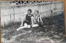 Women Relaxing Outdoors, Bathing Clothes 1920s Realphoto Postcard - Gay Interest