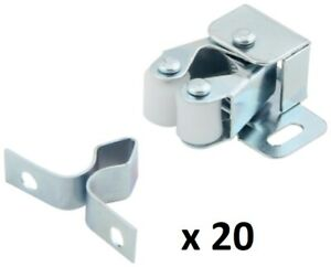 Double Roller Catch with Prong for Cabinet Doors,Cabinet Latch By Silverline 20P