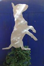 English Bull Terrier, Dog Tree Topper, Wreath Decor, Holiday, Christmas Decor