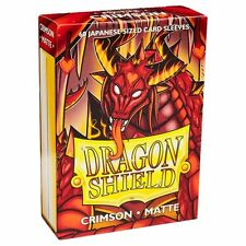 Dragon Shields Japanese Matte Crimson 60ct Sleeves protectors yugioh vanguard