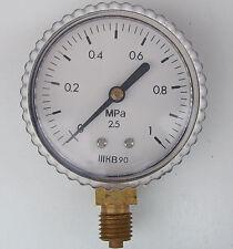 0-1 MPa Air Pressure Gauge Manometer, M12x1.25 Thread, 58mm, 0-10 Bar NOS