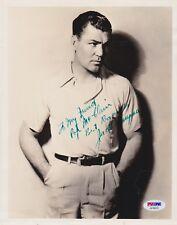 JACK DEMPSEY Signed Autograph Auto 8x10 Boxing Champ Photo Picture PSA Letter