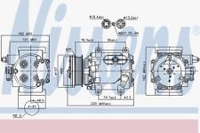 Kompressor Klimaanlage - Nissens 89239