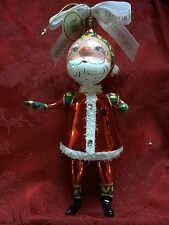 FLAWLESS Exquisite WATERFORD Glass #1733 Ltd Edition SANTA Christmas Ornament