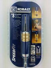 """Kobalt No.8 Drill Flip Drive Unit 7/64"""" Pilot 1/4"""" Hex Shank Made in Montana USA"""