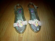 DISNEY PRINCESS GIRLS JELLY SANDALS SHOES SIZE 13-1