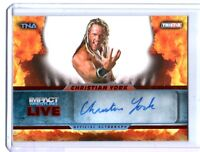 TNA Christian York 2013 Impact Wrestling LIVE RED Autograph Card SN 1 of 5