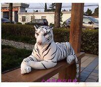 90cm Giant White South China Tiger Stuffed Animals Plush Soft Toy Doll Xmas Gift