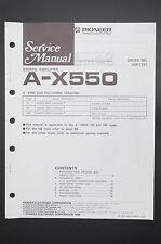 PIONEER A-X550 Original Service-Manual/Anleitung/Schaltplan! o40