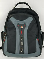 Swiss Gear Waterproof Travel Bag Laptop Backpack Black & Gray Red Accents EUC