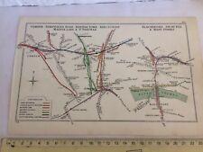 BLACKFRIARS CAMDEN KINGS CROSS EUSTON HOLBORN ST PANCRAS LONDON RAILWAY MAP 1915