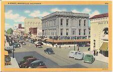 D Street in Marysville CA Postcard