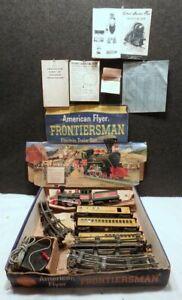 American Flyer Frontiersman Franklin TRAIN Set 3 Cars TRACK TRANSFORMER &  BOX