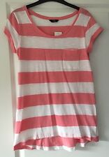 Ladies F&F Pink And White T-shirt Size 10 Brand New With Tags