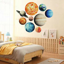 Glow In The Dark Solar System Wall Stickers 9#Planets Decal Kids Room Decor
