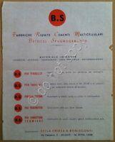 Materiali edili - volantino - pubblicità - Betocel Spugnocemento - anni '50
