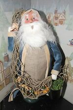 Byers Choice Caroler Nautical Santa with Bucket and Net 2016 *
