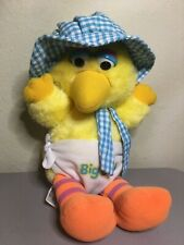 "Vintage BABY BIG BIRD Hasbro Softies 11"" Stuffed Plush Toy"