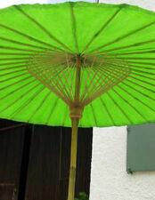 Original Thailand Sonnenschirm, robuste Bambus Qualität, Maigrün, edel & schön