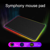 For PC Laptop Extended LED Colorful RGB Lighting Gaming Pad Keypad Mouse Mat