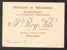 Parfumerie. Maison Rey Fils. Toulon. Vers 1910. Coiffeurs Parfumeurs