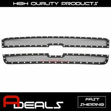 For Chevy Silverado 2500/3500 2003-2004 Steel Black Rivet Mesh Grille