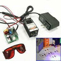 Focusable 450nm 3W Blue Laser Module TTL Carving/Burning/Engraning Gift Goggles