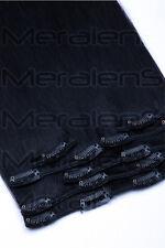 7 Tressen Clip In 100% Remy Echthaar Extensions Set 35cm-80cm  Haarverlängerung