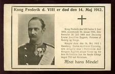DENMARK Kong Frederik d. VIII 1912 MOURNING PPC