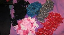 BLACK CROCHET SCARF/BELT/HEADBAND ACRYLIC ASSORTED COLORS  LIGHT WEIGHT