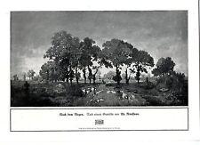 Th. Rousseau après la pluie paysagères-Motif histor. Art pression V. 1909