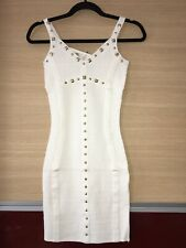 Jane Norman Bandage With Gold Studs Bodycon Dress Cream Size 6 RRP £60