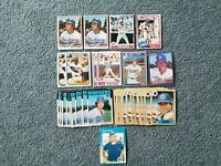 Steve Yeager Baseball Card Mixed Lot of approx 34 cards